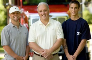 Stephen Smith with sons